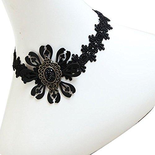 G ¨ ® Dankesch Retro Edle Elegante Vintage Spitze Schwarz Halskette Kette Vampire Zubehör Dekorationen für die ()
