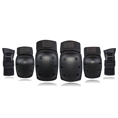 Bodbii Knieellenbogenschutz Handgelenkschutz Schutz Sicherheits-Gang-Set für Kinder Kinder Erwachsene Skateboarden Inline-Skating