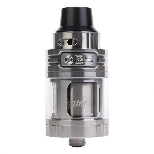 Riccardo Engine Clearomizer (5,2 ml, Durchmesser 25 mm, RTA Selbstwickler, OBS Verdampfer für e-Zigarette) silber, 1 Stück