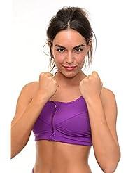 B.BANG sujetadores deportivos con cremallera push-up ropa interior fitness running