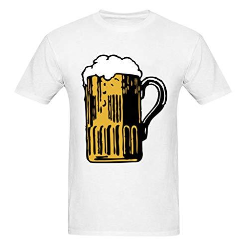 Herren Sommer Herbst T-Shirts Kurzarm V Ausschnitt Sport Tees Oktoberfest Bedruckt Polyester Baumwolle Trikot Workwear Gym Laufbekleidung Bodybuilding Polohemd Top (EU:38, Weiß + Schwarz) -