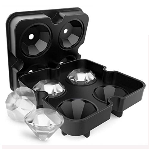 Ice Cube Maker - Diamond Shape 3d Ice Cube Mold Maker Bar Party Silicone Trays Chocolate - Countertop Silicone Camping Fittings Large Small Whiskey Round Mini Seen Star Cube Outdoor Dispens