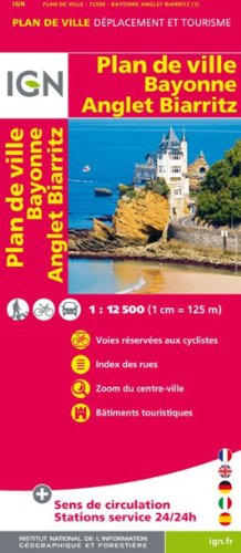 72506 PLAN DE BAYONNE/ANGLET/BIARRITZ   1/12.500 par COLLECTIF