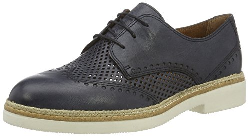 Tamaris 23708, Scarpe Stringate Basse Brogue Donna Blu (NAVY 805)
