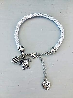Bracelet femme gris argenté avec perle à parfumer et charm tortue, bijou tortue, bijoux, bracelet, bijou femme, bijoux cadeaux, idée cadeau
