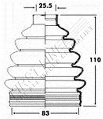 First Line FCB2363 Joint-soufflet, arbre de commande