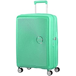 American Tourister - Soundbox Spinner Extensible, 67cm, 71,5/81 L - 3,7 KG, Vert (Deep Mint)