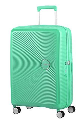 American Tourister Soundbox Spinner Espandibile Bagaglio A Mano, 67 cm, 71,5/81 L, 3,7 Kg, Verde (Deep Mint)