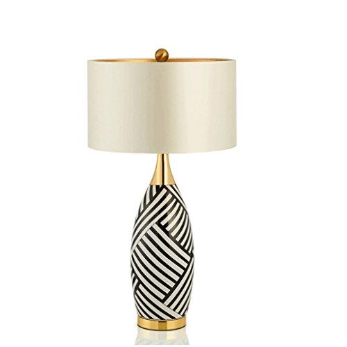 LED Schreibtischlampe Einfache Moderne Kreative Kupfer Zebra Keramik Tischlampe Dekoration Wohnzimmer Studie Schlafzimmer Nachttisch Modell Zimmer (Zebra-zimmer-dekorationen)
