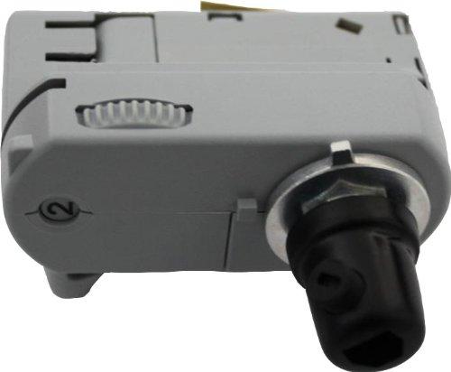 GlobalTrac 3-Phasenstromschiene Ausspeiser Stromabnehmer mit Zugentlastung für 3x0,75qmm grau silbergrau