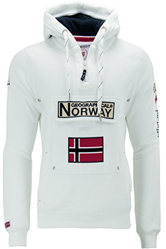 Geographical Norway Macho gymclass Sudadera con Capucha Blanco S
