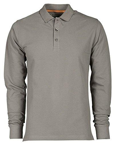 Camicia a maniche lunghe Polo da uomo in cotone piquet Hockey grigio chiaro M