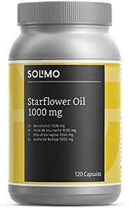 Marchio Amazon- Solimo Integratore alimentare di olio di borragine 1000 mg con vitamina E, 120 capsule