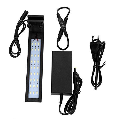 Estink 110-240V LED Unterwasser Aquarium Lichter, Aquarium Licht Aquarium Clip Lampe Unterwasser Wachsen Licht mit Licht Modulator(110-240V) (Die Ip-clip)