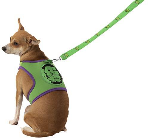 Marvel Classic Universe The Incredible Hulk Hundeleine und Geschirr, Größe - Hulk Kostüm Für Hunde