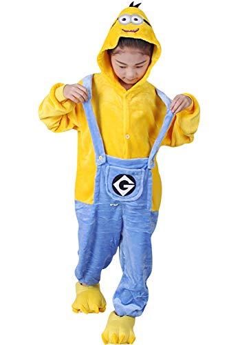 Dolamen Kinder Unisex Jumpsuits, Kostüm Tier Onesie
