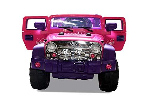 RC Auto kaufen Kinderauto Bild 6: Kinder Elektroauto Jeep Pink Girly JJ235 Elektro Kinderauto Kinderfahrzeug*