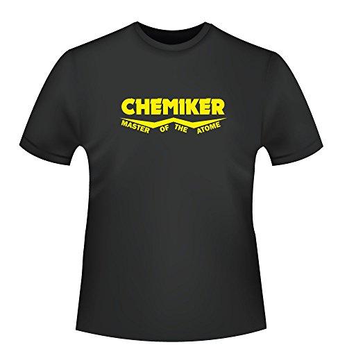 Chemiker - Master of the Atome, Herren T-Shirt - Fairtrade - ID104043 Schwarz