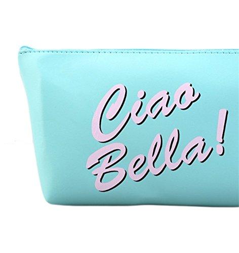 Cdet Makeup Tasche Moderne Mädchen PU kreative große Kapazität wasserdichte kosmetische Tasche / Aufbewahrungsbeutel Kosmetiktasche Beauty Set Blue-Wimper