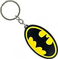 DC COMICS BATMAN Logo Metal Keychain, Black (Ke1Twkbtm) Keyring, 6 cm, Yellow