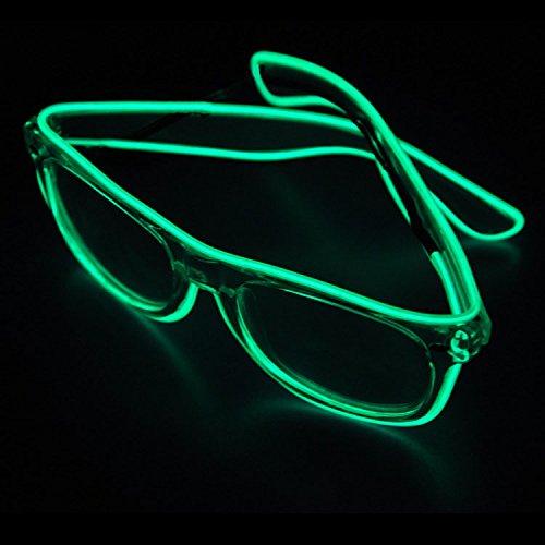 Veeki, LED-Draht-Brille mit beleuchteten Gläsern, LED-Neon-Brille für Partys, Kostümfeste, Bälle, Diskos, Halloween, Geburtstage, Festivals (Ei-halloween-kostüm)