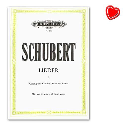 Franz Schubert Canciones de banda 1–para Sing voz (Medio), Piano–Libro de ordenador con Bunter herzförmiger–Partituras C. F. Peters ep20b 9790014000714