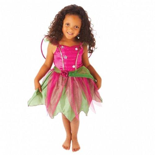 Kinderkostüm Waldfee, Größe:116 (4 - 6 Jahre) (Ballett Kostüm Flügel)