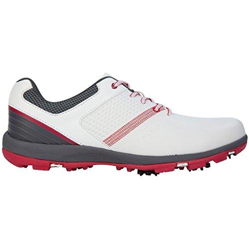 Stuburt, scarpe da golf Hydro sport, edizione 2017,scarpe da uomo, performance sportive, leggere e con tacchetti, Uomo, White/Berry, 8.5 UK/ EUR 42.5 / US 9.5