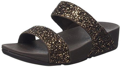 Fitflop Glitterball Tm, Sandali con Tacco Donna Oro (Bronze Glitter)