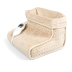 Vidabelle Fußwärmer in beige mit 3 Temperaturstufen, Abschaltautomatik, maschinenwaschbar, Wärmeschuh