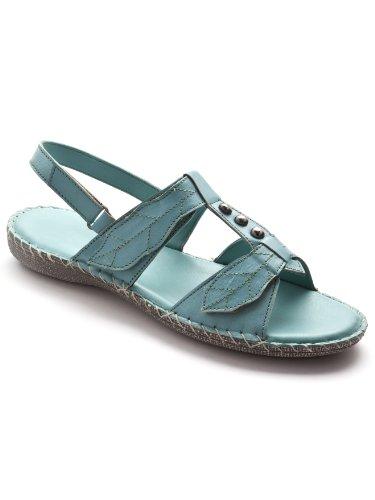 Pediconfort - Sandales ultra souples en cuir - femme - Taille : 39 - Couleur : Turquoise