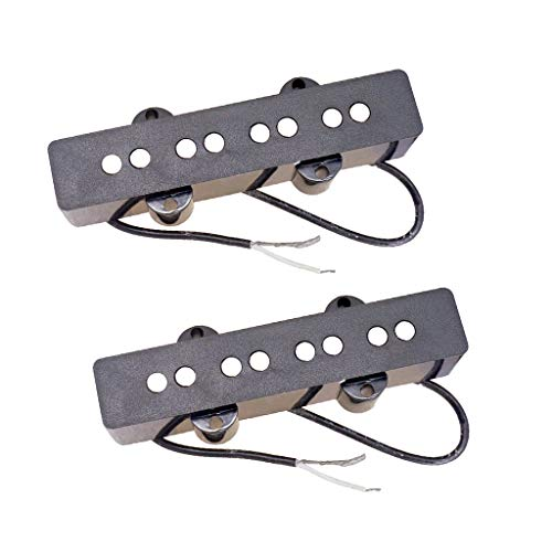 B Baosity 2 Stück Gitarre Tonabnehmer Pickup, 8 Löcher Pick Up für 4 Saiten E-Gitarre Jazz Bass E-Bass