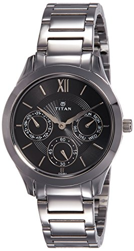 Titan Analog Black Dial Women's Watch-2570SM02 image