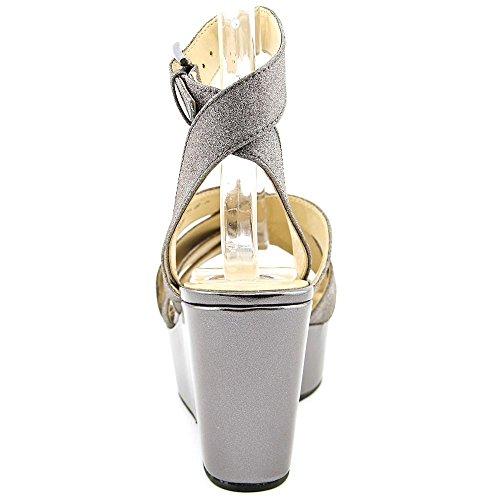 Nina Vision Femmes Synthétique Sandales Compensés Charcoal Glitte