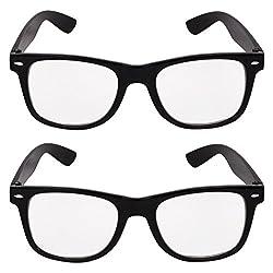 Lens Combo Pack of 2 Full Rim Wayfarer Unisex Sunglasses For Man,Woman,Boys and Girls LSWC-001