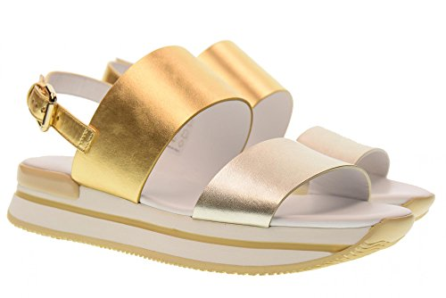 Hogan Chaussures Sandales H257 HXW2570AI30SV04341 Double Band Oro / platino
