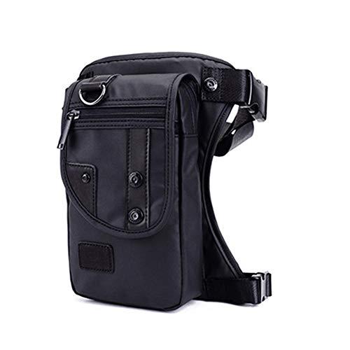 Generp Wasserdichte Motorrad-Tasche, Multifunktions-Satteltaschen, modische Diagonalpaket für Männer, Nylon-Material leichte Brust-Moto-Taschen Sat Nav Kit