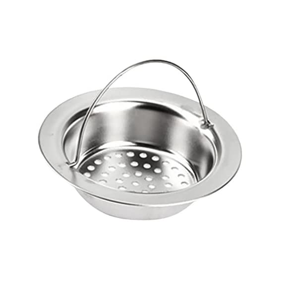 Electomania Stainless Steel Bathroom Sink Drain Filter Shower Cover (Silver)