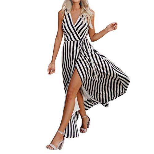 (Women' Cold Shoulder Pocket Floral Print Elegant Maxi Sleeveless Casual Dress, Spring Sale)