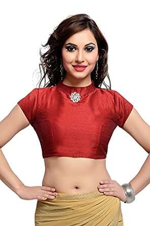 Studio Shringaar Polyester Saree Blouse(SIIMDC1819M_34_Maroon_XX-Small)