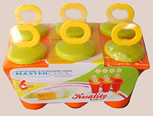 MasterCool Ice Candy Kulfi maker Popsicle Mould set of 6 (Color may vary)