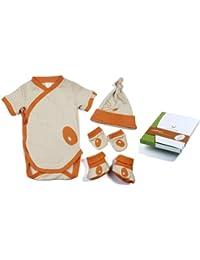 Pandi Panda Baby Girls' Outfit Orange Mandarin Orange 0 to 3 Months