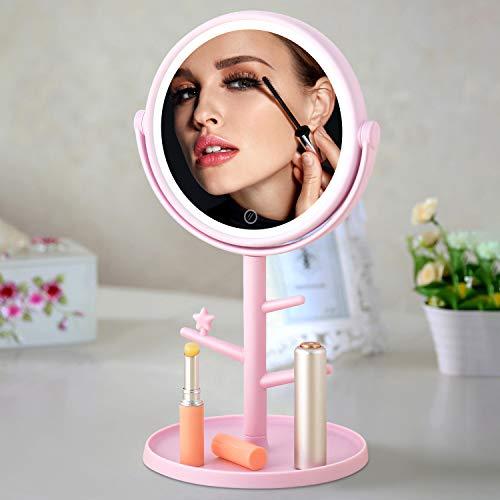 Espejo cosmético con iluminación LED