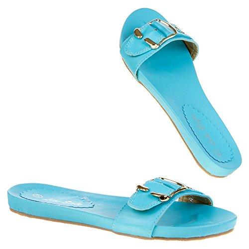 Damen Schuhe, 2522, SANDALEN Blau