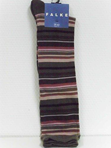 Preisvergleich Produktbild Falke Kinder Baumwoll Ringel-Kniestrumpf braun-altrose Gr. 27-30