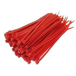 All Trade Direct Kabelbinder, 100 x 2,5 mm, alle Größen, 100 Stück rot
