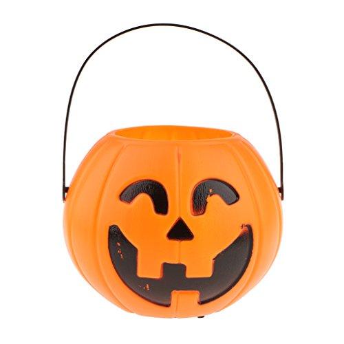 Baoblaze 1x Süßwaren Körbe mit 3x Knopf Batterie halloween thema - dekoration (Halloween Dekoration Themen)