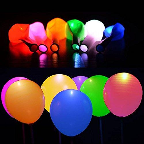 LED leuchtende Luftballons Blinkende Party Ballons 32 Gemischte Farbe für Geburtstag Hochzeit Festival Party