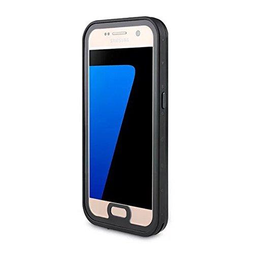 Happon Galaxy S7 Waserdicht Hülle Ultra Slim [IP68 Zertifiziert Wasserdicht] Handyhülle Kratzfestes Gehäuse Outdoor Handy Schutzhülle Unterwasser Cover Tasche Case für Galaxy S7 (Schwarz)
