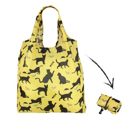Re-Uz-Lifestyle-Shopper-Foldable-Reusable-Shopping-Grocery-Bag-Happy-Cats